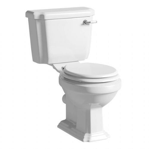 Kartell Astley Close Coupled Toilet - Cistern - Smart Lift Soft Close Seat - White